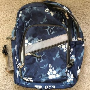 LL Bean Blue Aloha Backpack